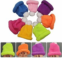 Amosfun 7pcs Christmas Mini Knit Hats Christmas