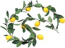 Amosfun Artificial Lemon Garland Artificial Fruit