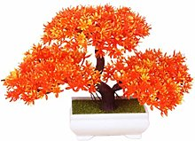 Amosfun Artificial Plants Bonsai Welcoming Pine