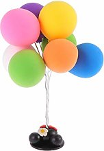 Amosfun Balloons Table Ornament Clay Cake Topper