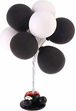 Amosfun Balloons Table Ornament Clay Cake Topper
