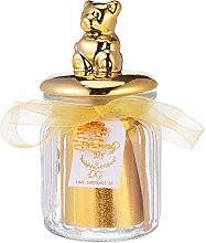 Amosfun Bear Gold Glasses Candy Treat Jar Canister