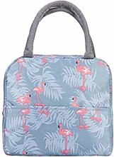 Amosfun Canvas Lunch Box Bag Lunch Tote Bag Simple