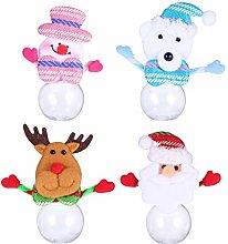 Amosfun Christmas Candy Jar Santa Claus Snowman