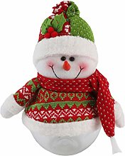 Amosfun Christmas Candy Jar Snowman Doll Cookie