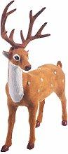 Amosfun Christmas Deer Figurines Christmas