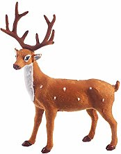 Amosfun Christmas Deer Figurines Christmas
