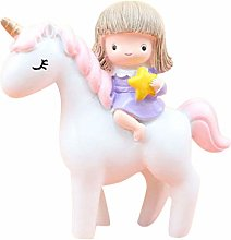Amosfun Christmas Resin Statue Princess Unicorn