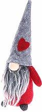 Amosfun Christmas Santa Gnome Plush Doll Tomte Elf