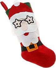 Amosfun Christmas Stockings Christmas Santa Plush