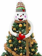 Amosfun Christmas Tree Topper Snowman Tree Hugger