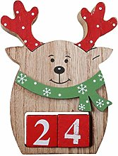 Amosfun Christmas Wooden Advent Calendar Xmas