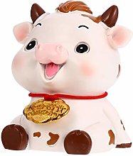 Amosfun Cow Figurine 2021 Chinese Zodiac Ox Year