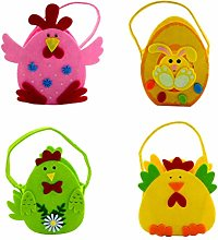 Amosfun Easter Eggs Basket Felt Easter Candy Bag
