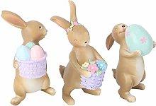 Amosfun Easter Mini Bunny Figurines Garden Statue