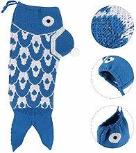 Amosfun Fish Christmas Stockings Creative