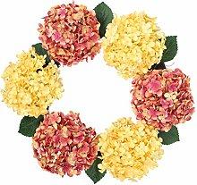 Amosfun Flower Wreath Simulation Artificial