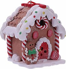 Amosfun LED Gingerbread House Clay Dough Christmas