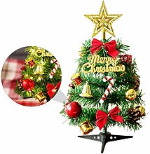 Amosfun Mini Artificial Christmas Trees with Light