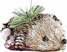 Amosfun Pinecone Hedgehog Figurine Christmas