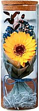 Amosfun Preserved Real Flower Yellow Sunflower