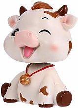 Amosfun Resin Animal Figurine Mini Cow Ox Statue