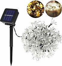 Amosfun Sakura Solar LED String Lights 50Bulbs