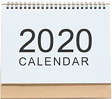 Amosfun Standing Desk Calendar Simple Year 2020