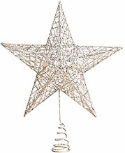 Amosfun Star Christmas Tree Topper Christmas Tree