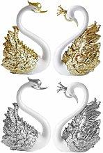 AMOSFUN Swan Cake Topper Decoration Delicate 3D