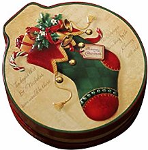 Amosfun Tinplate Storage Box Christmas Sock