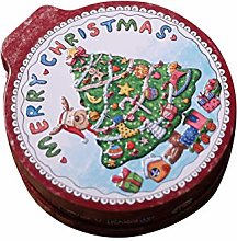 Amosfun Tinplate Storage Box Christmas Tree