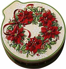 Amosfun Tinplate Storage Box Wreath Wedding Gift