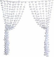 Amosfun White Cloth Flower Backdrop Wall Pendant