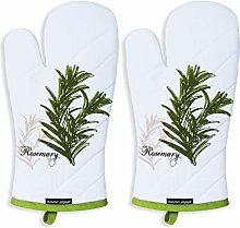 AMOUR INFINI Set of 2 Oven Mitts Herb Garden   18