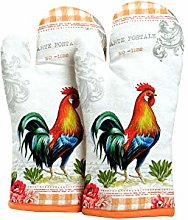 AMOUR INFINI Set of 2 Oven Mitts Unique Rooster