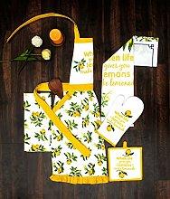 AMOUR INFINI Women's Kitchen Apron Citrus