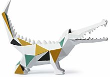 Amoy-Art Sculpture Statue Crocodile Figurine
