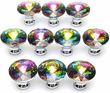 Amoyer 10pcs Drawer Door Knobs Colorful Cupboard