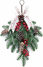 Amoyer 1pc Christmas Artificial Fruit Pine Wreath