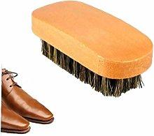 Amoyer Horsehair Shoe Shine Brush Soft Horse Hair