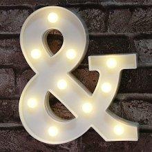 Ampersand Symbol Marquee Letter Lights Alphabet