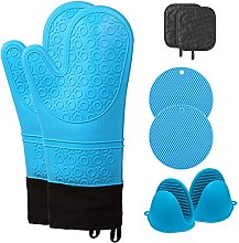 AMRTA Extra Long Silicone Oven Mitts and Pot