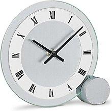 AMS Uhrenfabrik Clock, Silver, 16 x 4 x 15 cm