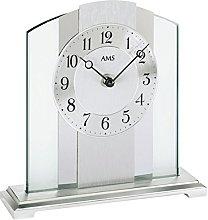 AMS Uhrenfabrik Clock, Silver, 20 x 6 x 63 cm