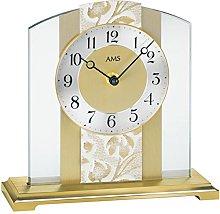 AMS Uhrenfabrik Clock, Silver, 20 x 6 x 65 cm