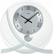 AMS Uhrenfabrik Clock, Silver, 23 x 23 x 7 cm