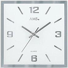 AMS Uhrenfabrik Clock, Silver, 27 x 4 x 395 cm