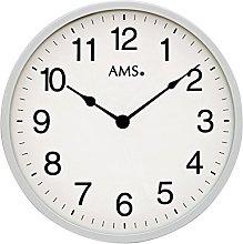 AMS Uhrenfabrik Clock, Silver, 30 x 3 x 480 cm