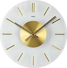 AMS Uhrenfabrik Clock, Silver, 30 x 4 x 390 cm